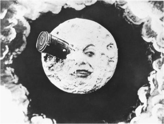 Hoofdpersoon de Maan in 'Le Voyage dans la Lune'